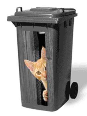 chat sticker poubelle lm30 lifestyle. Black Bedroom Furniture Sets. Home Design Ideas