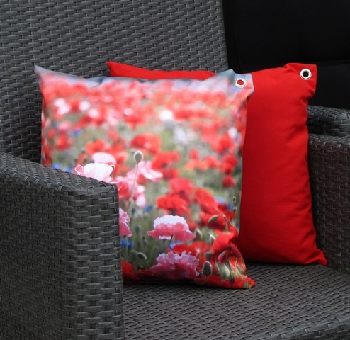 Uni rouge coussin de jardin color 45x45cm for Decoration jardin colore