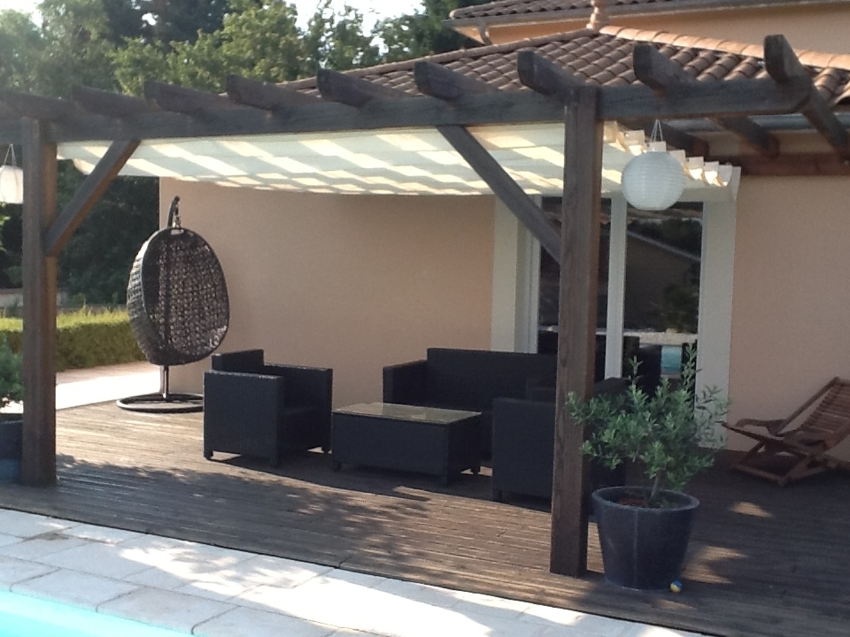 coolfit store bateau horizontal pergola incl syst me coulissant. Black Bedroom Furniture Sets. Home Design Ideas