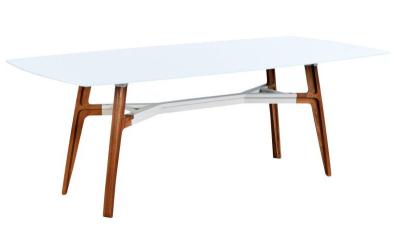 Soldes 56 lima table ext rieur rectangulaire 210 cm for Table exterieur verre trempe