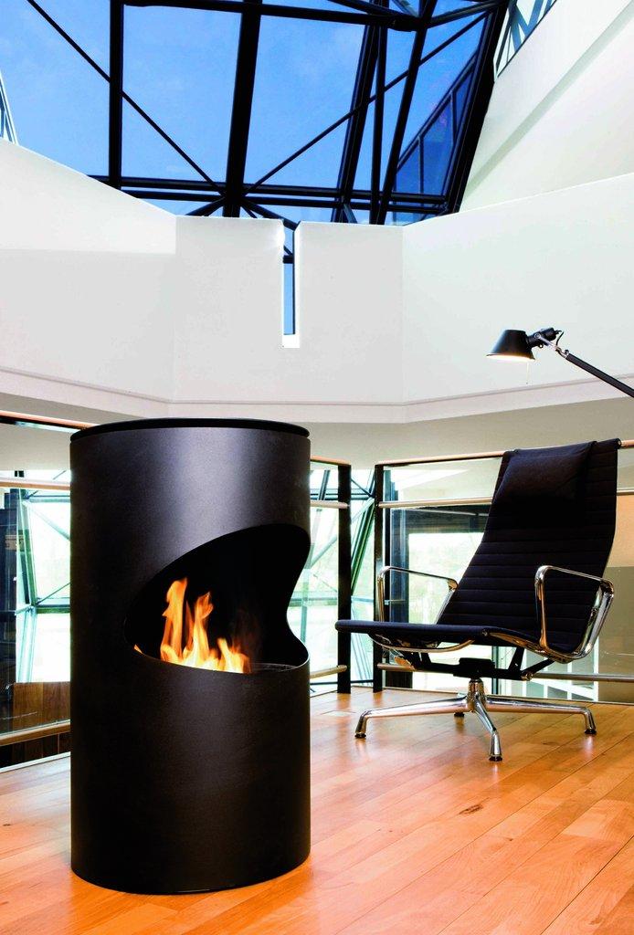 cheminee bio ethanol sur roulettes. Black Bedroom Furniture Sets. Home Design Ideas