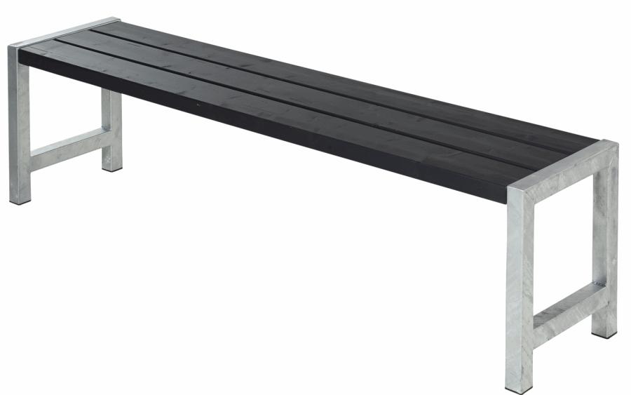 Plank banc de jardin en bois autoclave 42mm 38 x 176 x 44 cm - Banc de jardin noir ...