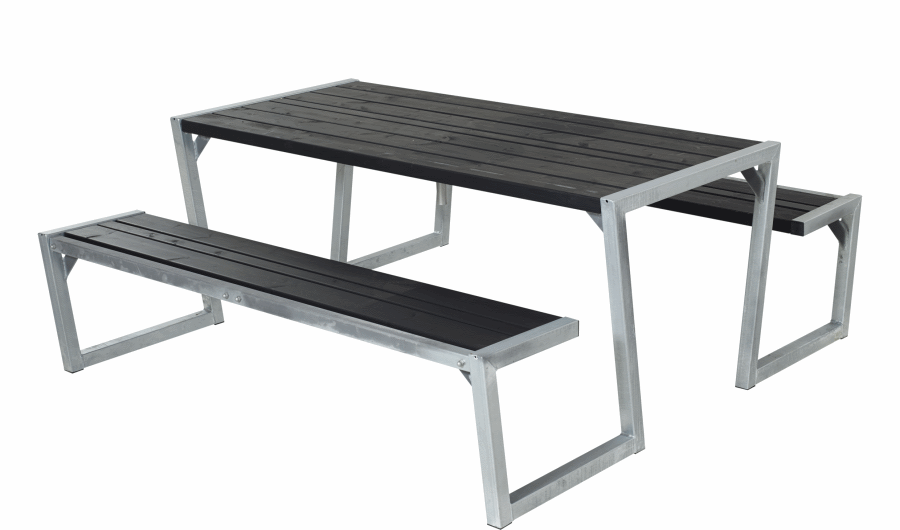 zigma table de jardin pique nique design bois 190 x 176 x 72 cm. Black Bedroom Furniture Sets. Home Design Ideas