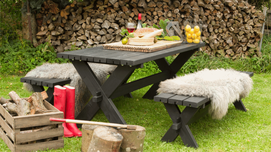emejing table de jardin en bois picnic photos amazing. Black Bedroom Furniture Sets. Home Design Ideas
