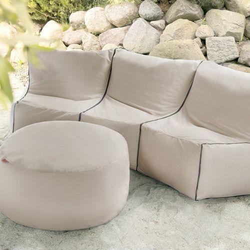 outbag tissu plus pouf poire et coussin g ant pour l 39 ext rieur. Black Bedroom Furniture Sets. Home Design Ideas