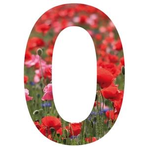 Coquelicot sticker chiffre pour la maison poubelle for Exterieur 8 lettres