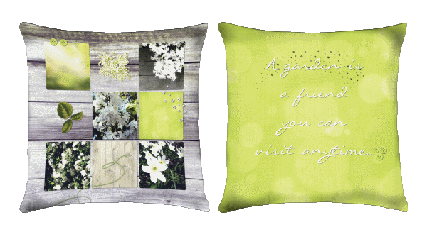 jardin bonheur coussin de jardin d coratif 45x45cm. Black Bedroom Furniture Sets. Home Design Ideas