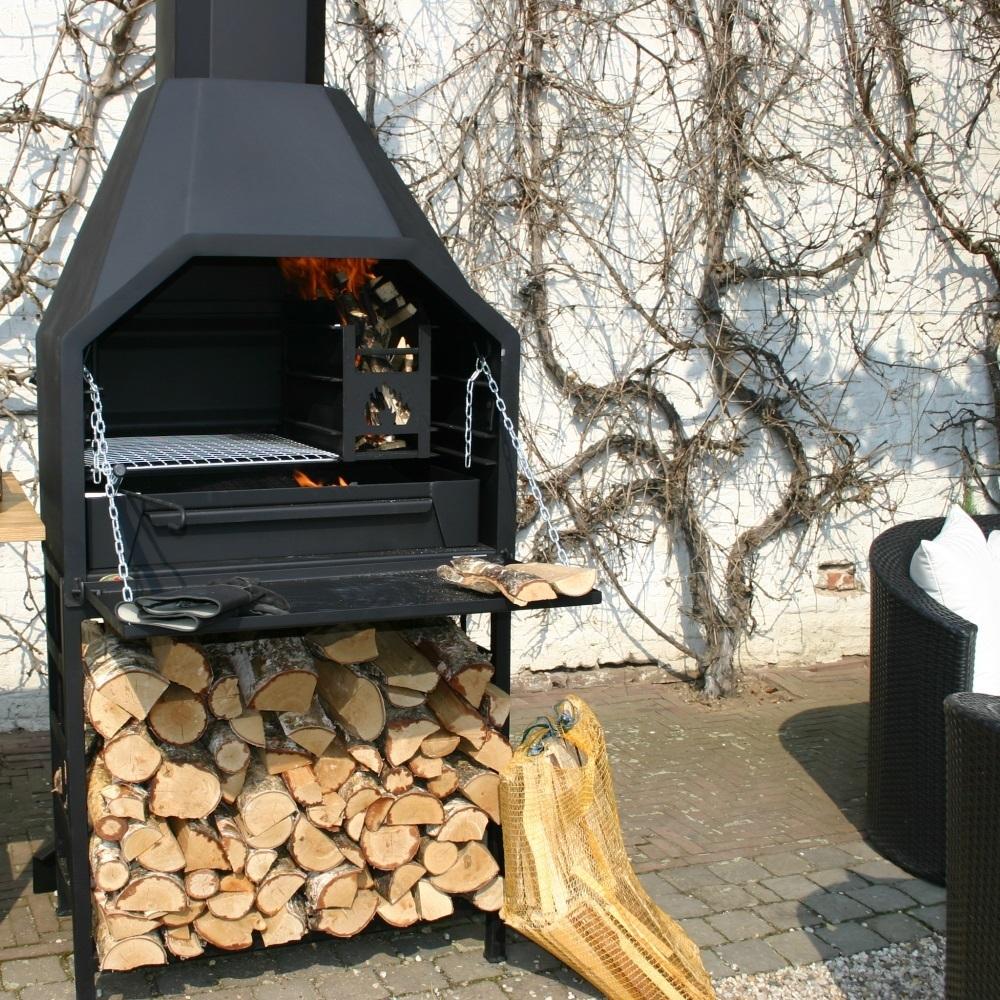 braai barbecue bois sud africain fs800 pr t poser. Black Bedroom Furniture Sets. Home Design Ideas