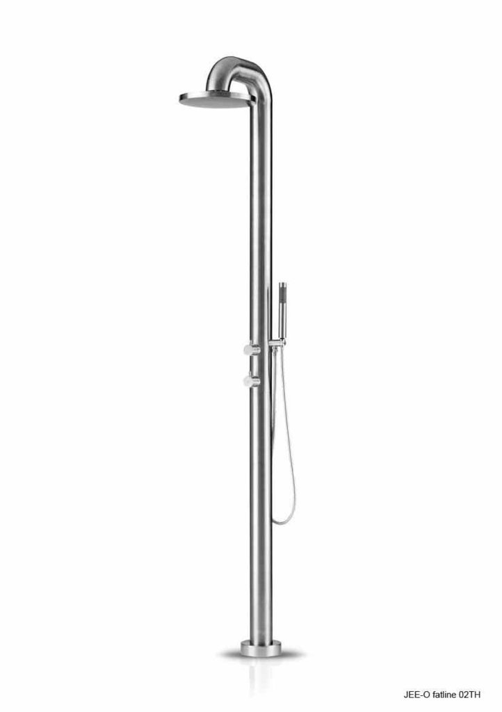 Douche ext rieure jee o fatline 02 inox bross tenue d for Douche de piscine exterieur