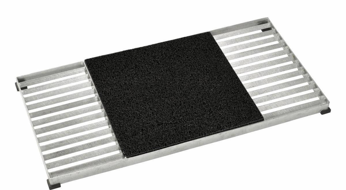 cubic paillasson design grille 80x40cm avec tapis coco rouge. Black Bedroom Furniture Sets. Home Design Ideas