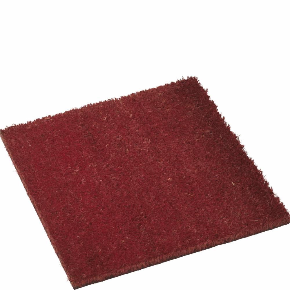 Tapis 40x40cm en coco rouge pour cubic paillasson design - Prix tapis coco ...