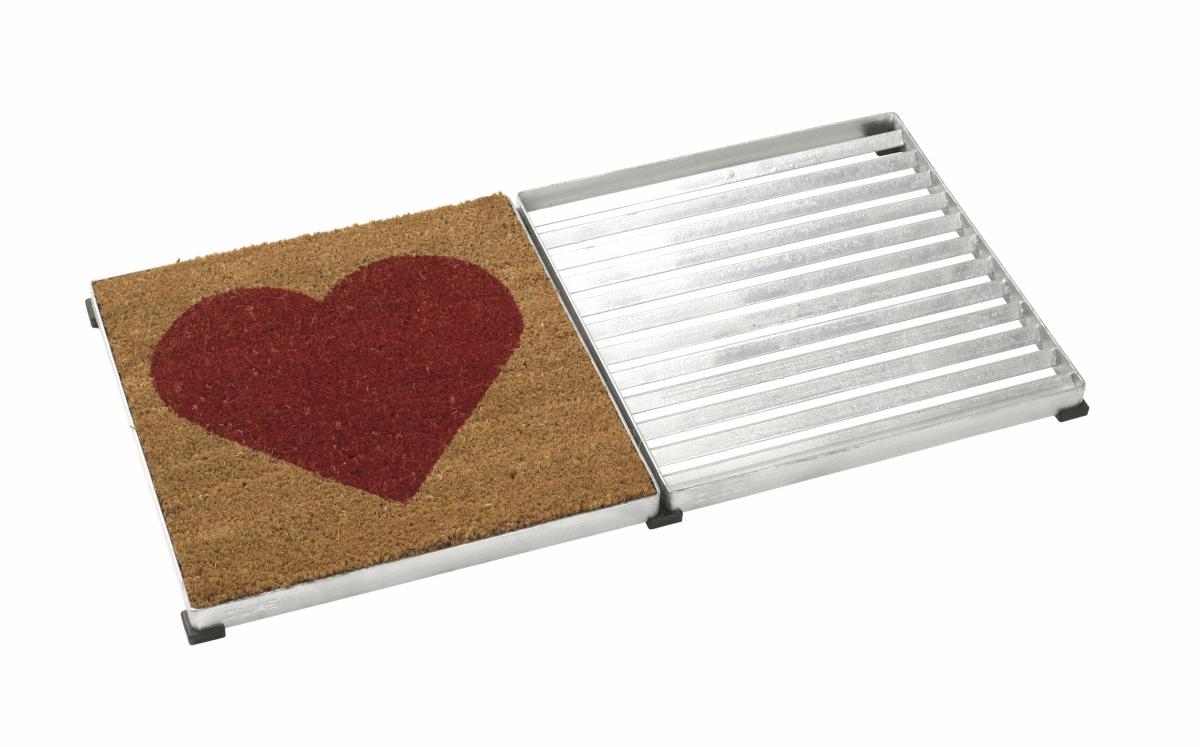 Tapis 40x40cm en coco coeur rouge pour cubic paillasson design - Prix tapis coco ...