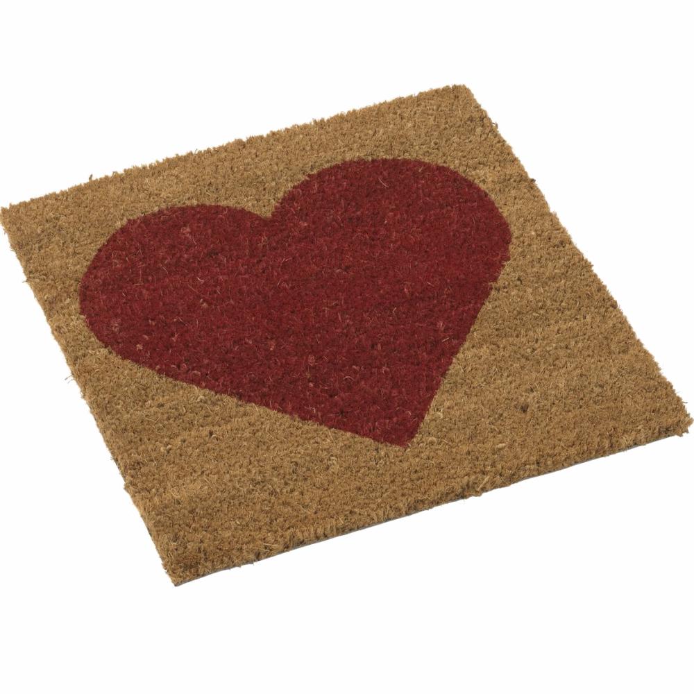 tapis 40x40cm en coco coeur rouge pour cubic paillasson design. Black Bedroom Furniture Sets. Home Design Ideas