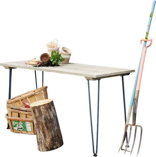 Table de plantation culture retro 148cm en bois style bois for Bois flotte suisse