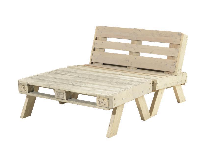 de jardin en palette (canapé + grande table basse) en bois