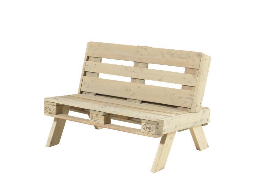 Canap de jardin en palette en bois - Fabrication canape palette bois ...