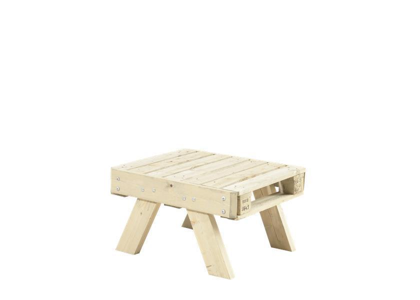 table basse de jardin en palette en bois 80x65,5x45cm