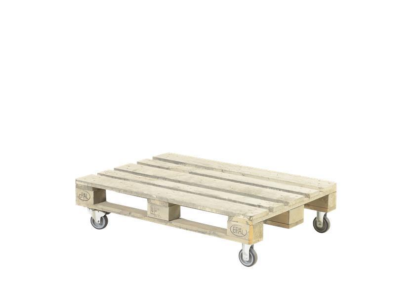 Table basse palette sur roulette - Table basse palette blanche ...