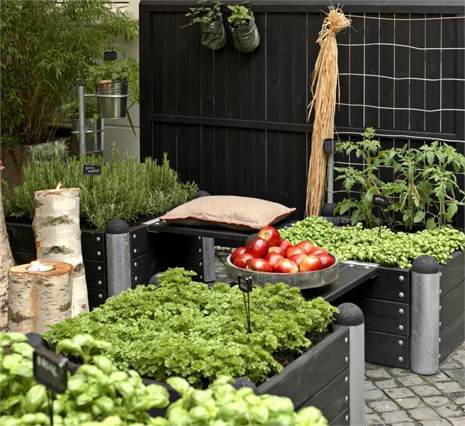 2 supports galvanis pour banc avec vis entre 2 jardini res pipe. Black Bedroom Furniture Sets. Home Design Ideas