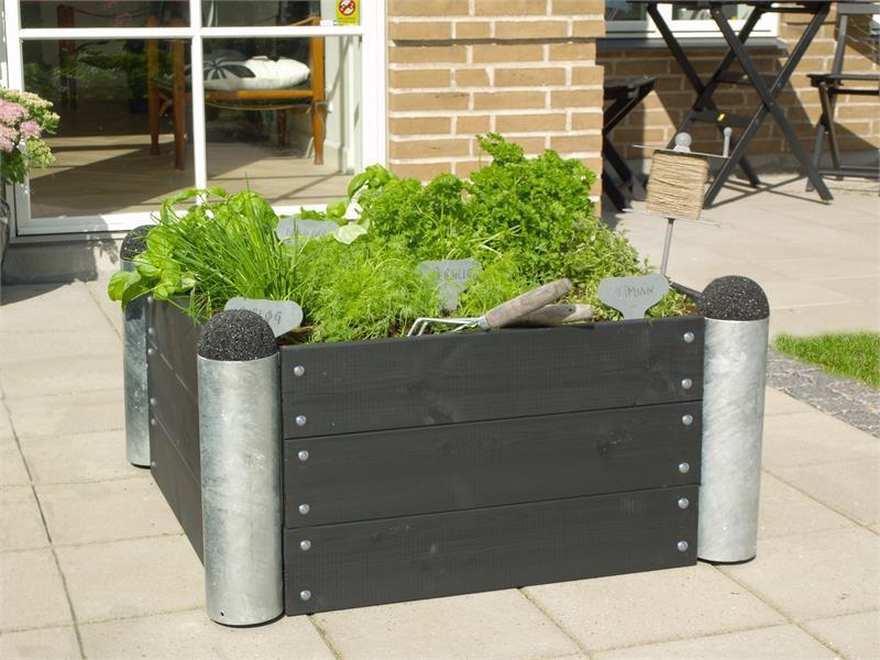 jardini re potager pipe mod le n 6 carr 80x80x36cm en bois autoclave. Black Bedroom Furniture Sets. Home Design Ideas
