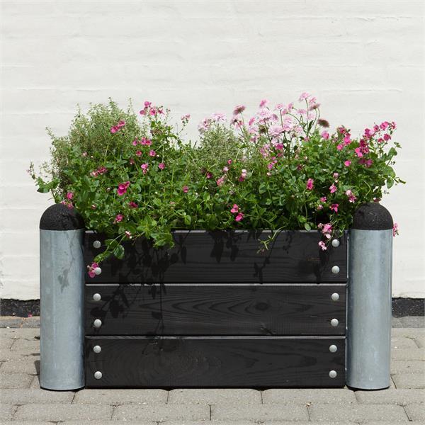 jardini re potager pipe mod le n 6 carr 78x78x36cm en. Black Bedroom Furniture Sets. Home Design Ideas