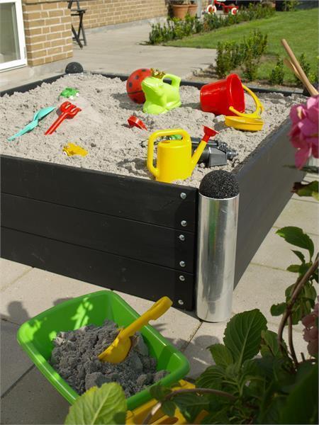 jardini re potager pipe mod le n 16 carr 138x138x36cm en bois composite anthracite. Black Bedroom Furniture Sets. Home Design Ideas
