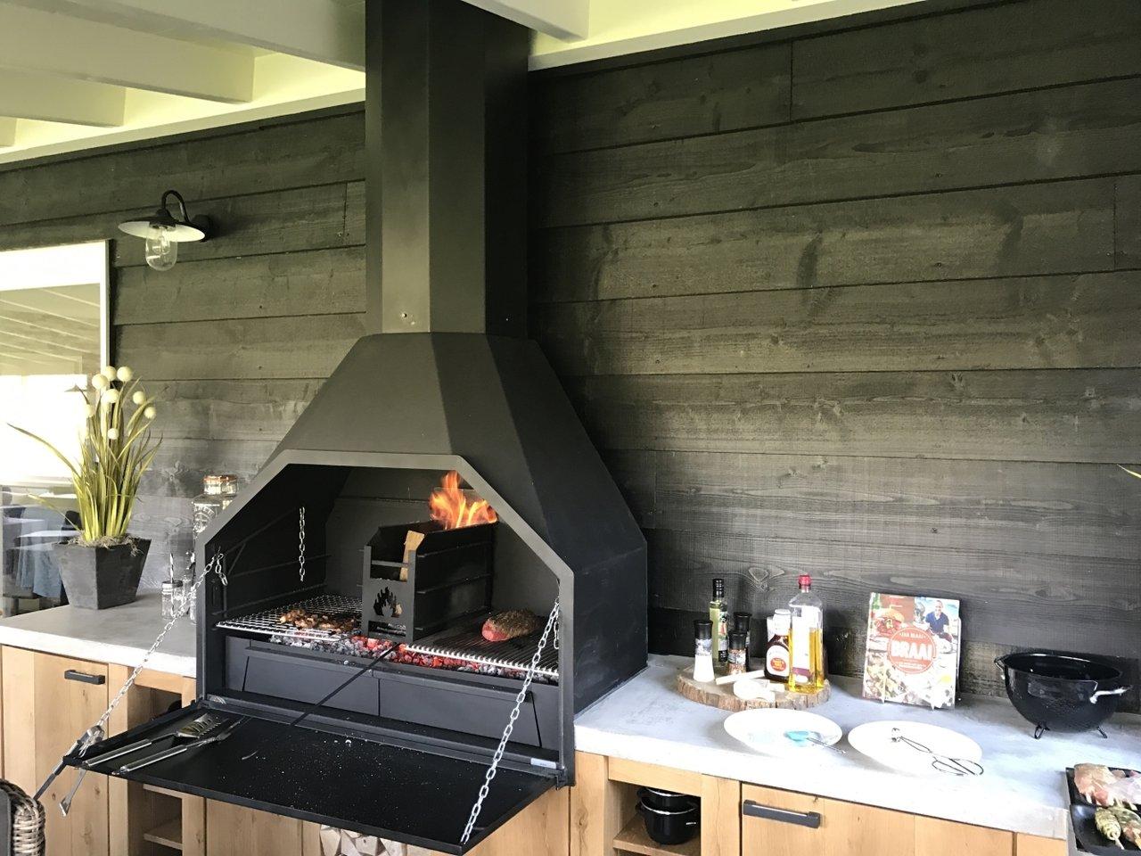 Home fires braai 1200 vrijstaand zonder onderstel for Interieur barbecue