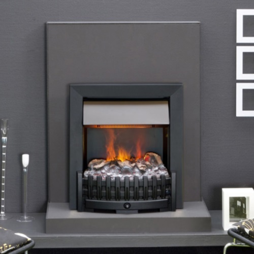 danville niva noir insert lectrique opti myst pour chemin e. Black Bedroom Furniture Sets. Home Design Ideas