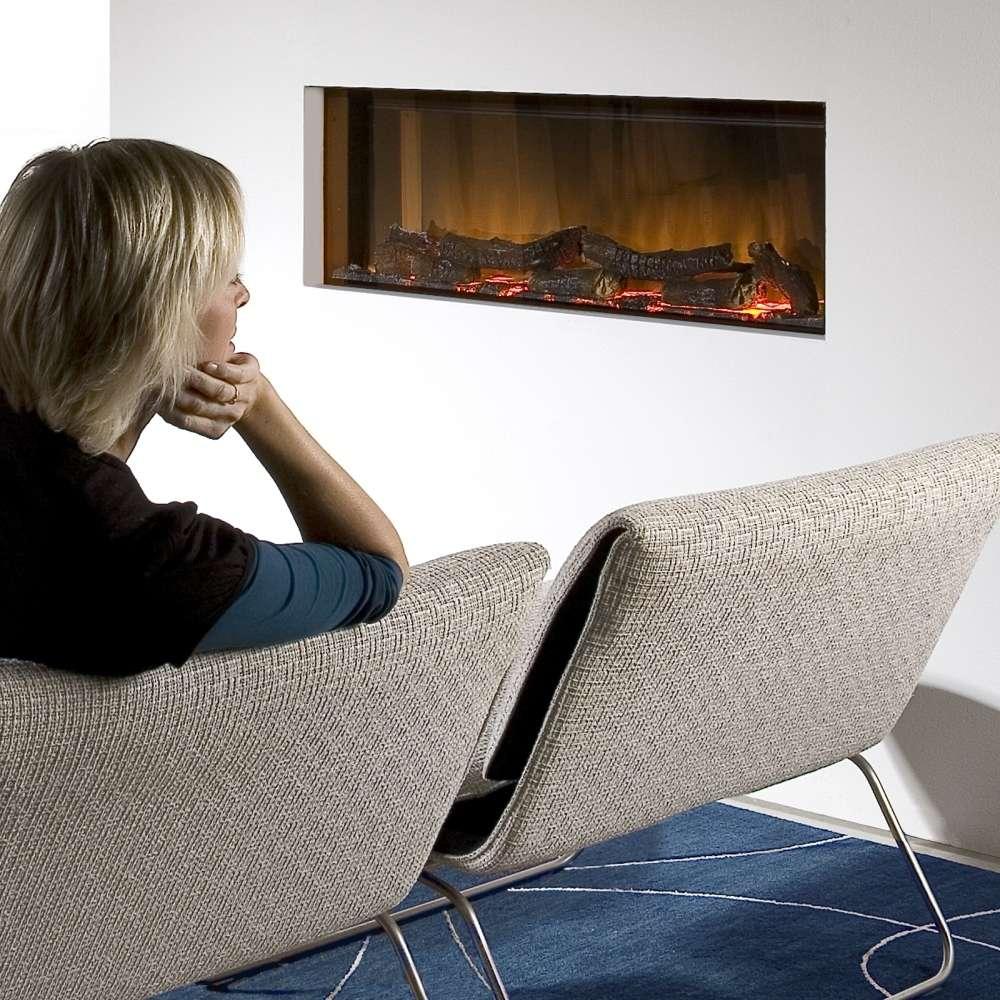 Optiflame Vega Wide Screen Electric Insert Fire # Table Tele Lcd Et Led En Bois