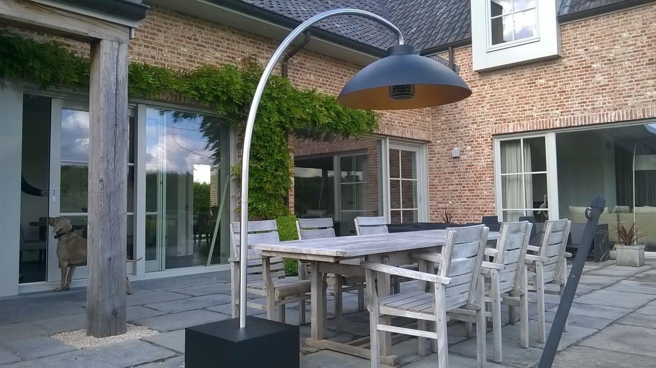Heatsail dome arc lampadaire parasol chauffant infrarouge - Lampadaire chauffant terrasse ...