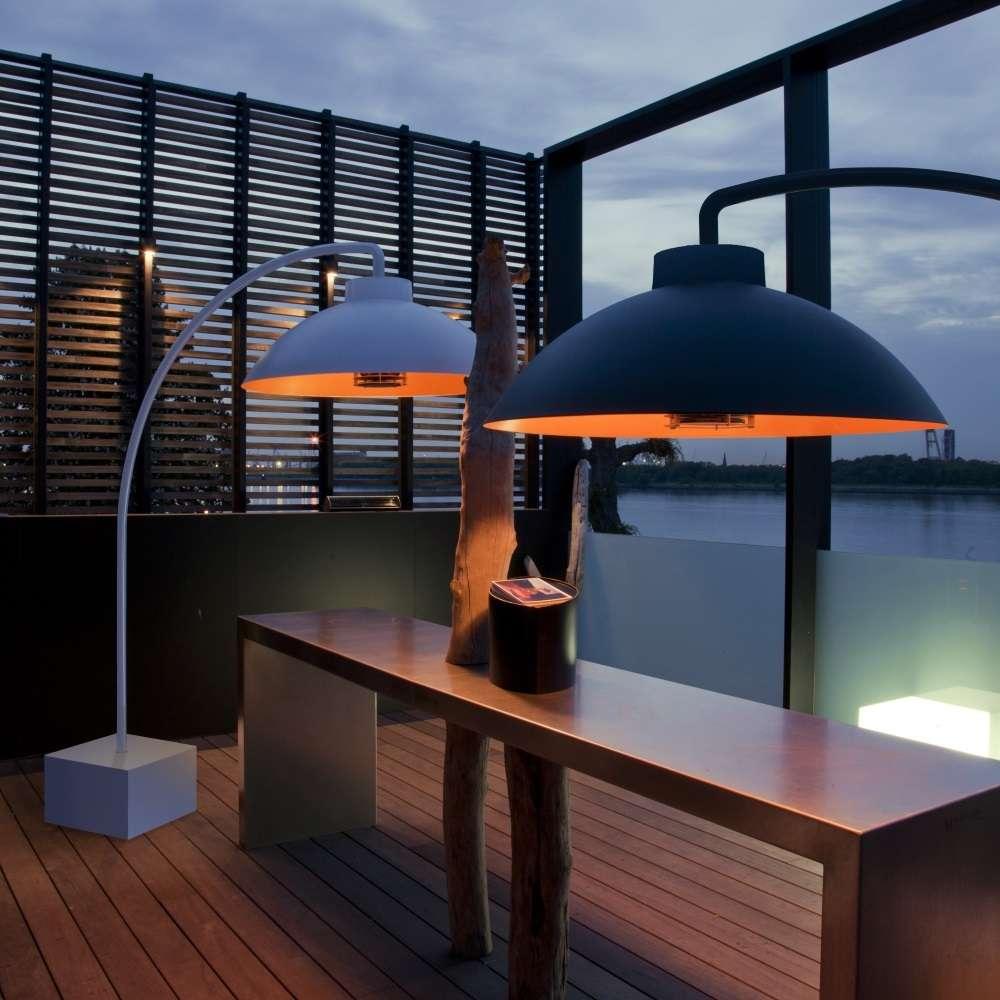 cool heatsail dome arc lampadaire parasol chauffant infrarouge with parasol chauffant de table. Black Bedroom Furniture Sets. Home Design Ideas
