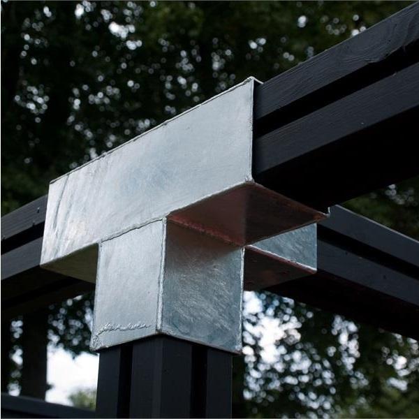 cubic connecteur d 39 angle 4 directions pour poteaux bois 9x9. Black Bedroom Furniture Sets. Home Design Ideas