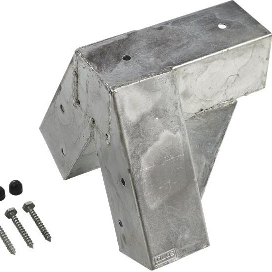 cubic connecteur portique balancoire pour poteaux bois 9x9 vis. Black Bedroom Furniture Sets. Home Design Ideas