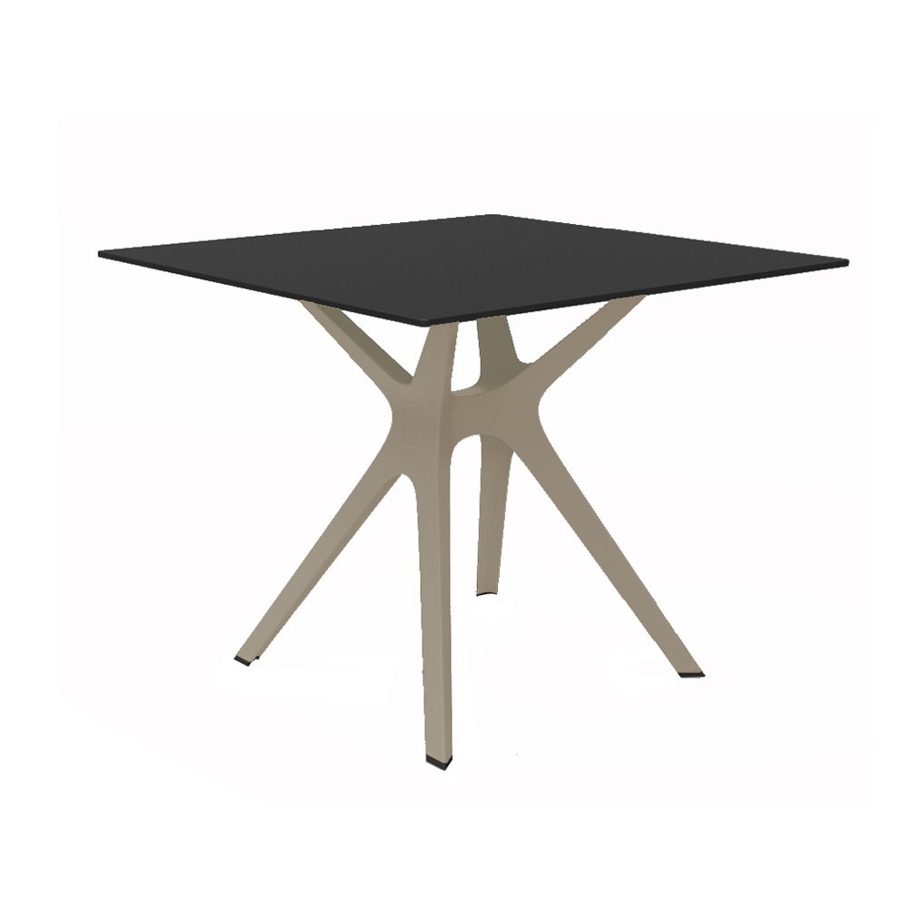 Vela s table de jardin terrasse chr rond ou carr for Table 90x90 design