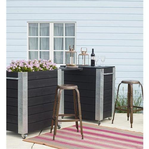 cubic jardini res et bacs plantes design sur roulettes. Black Bedroom Furniture Sets. Home Design Ideas
