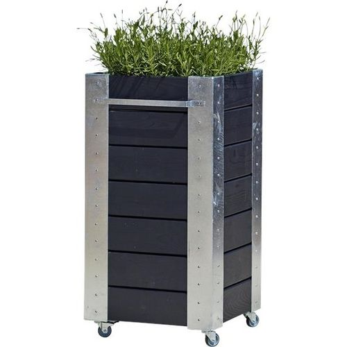 cubic jardini res et bacs plantes design sur roulettes. Black Bedroom Furniture Sets. Home Design Ideas