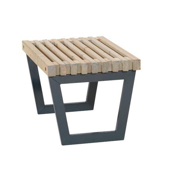 Siesta 80 cm Banc - table à lattes de jardin-lounge design