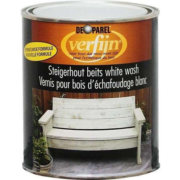 Vernis décorative 750ml effet bois flotté - couleur blanc