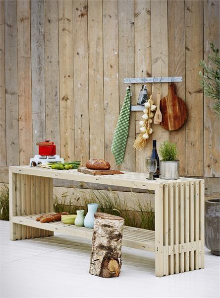 banc en bois design lattes 138x36cm bois neuf non trait. Black Bedroom Furniture Sets. Home Design Ideas