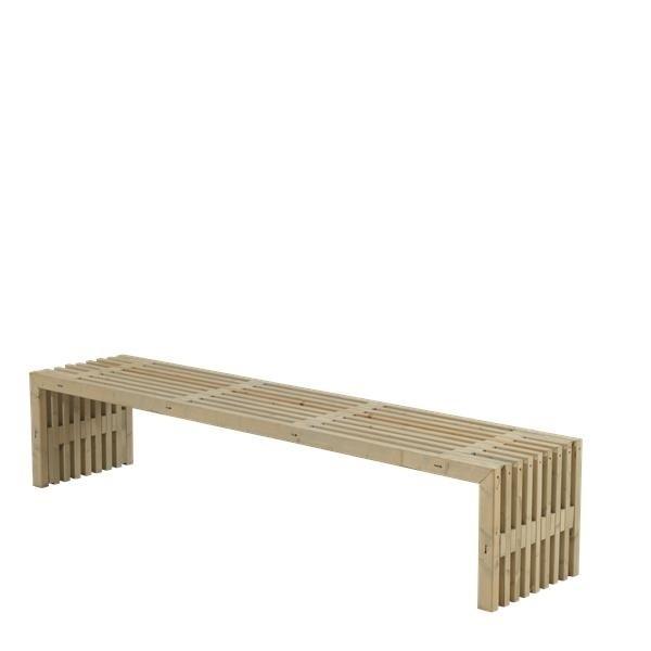 banc en bois design lattes 218x49cm bois neuf non trait. Black Bedroom Furniture Sets. Home Design Ideas