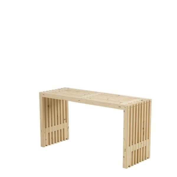 table en bois design lattes 138x49cm bois neuf non trait. Black Bedroom Furniture Sets. Home Design Ideas