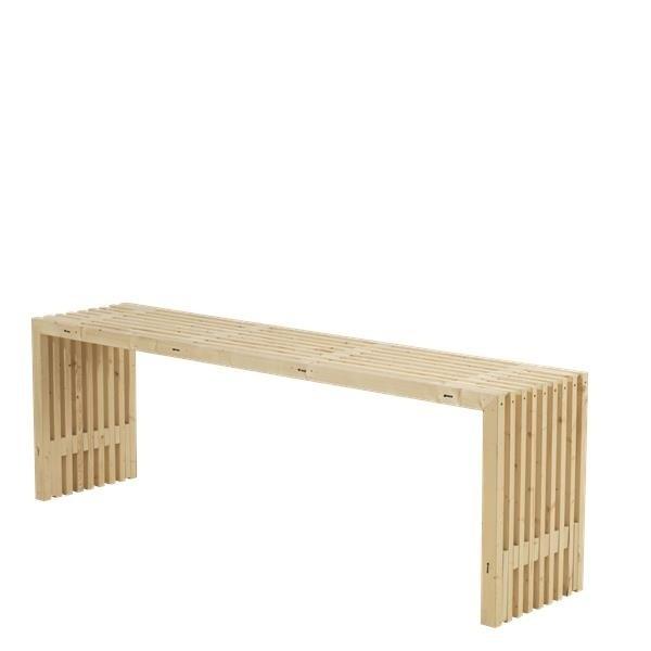 table en bois design lattes 218x49cm bois neuf non trait. Black Bedroom Furniture Sets. Home Design Ideas
