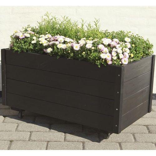 Cubic jardini res et bacs plantes design sur roulettes for Plante pour jardiniere exterieure