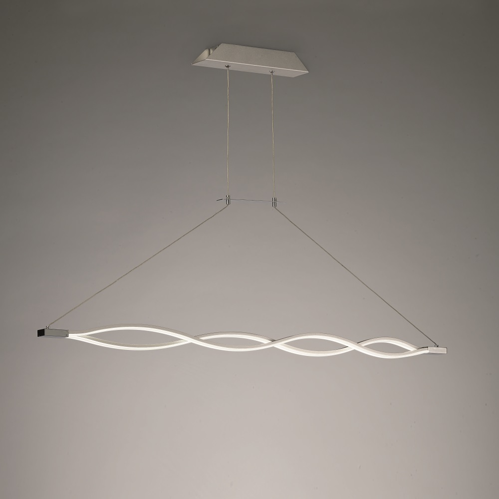 Mantra sahara lustre suspendu design 114cm led argent for Lustre suspendu design