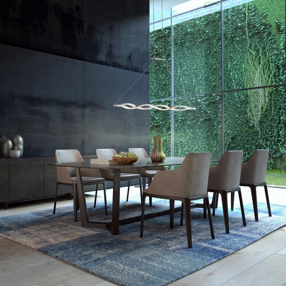 mantra sahara lustre suspendu design 114cm led argent chrome. Black Bedroom Furniture Sets. Home Design Ideas