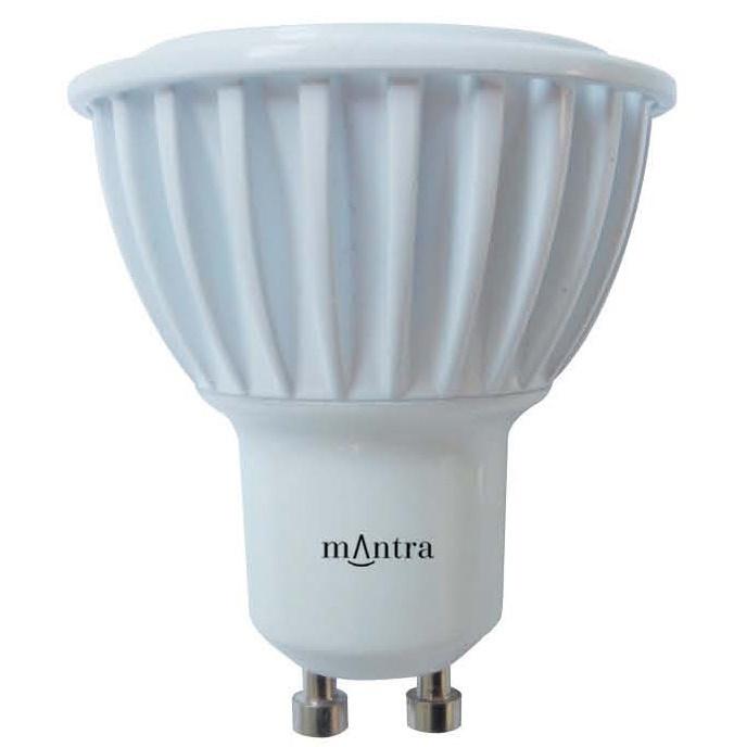 mantra ampoule led gu10 8w 3000k couleur doux 641lm 220 240v. Black Bedroom Furniture Sets. Home Design Ideas