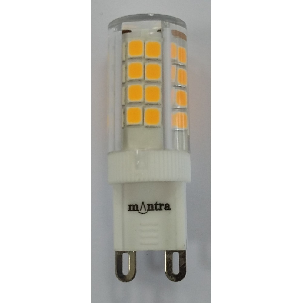 mantra ampoule led g9 3 5w 5000k couleur blanc clair 375lm. Black Bedroom Furniture Sets. Home Design Ideas