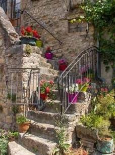 Escalier en pierres - Cadre-tableau déco jardin - LM30 Lifestyle
