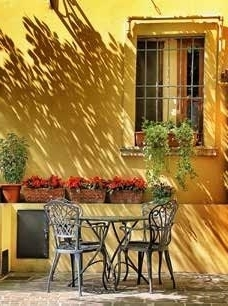 Yellow Wall Garden Decoration Painting Lm30 Lifestyle