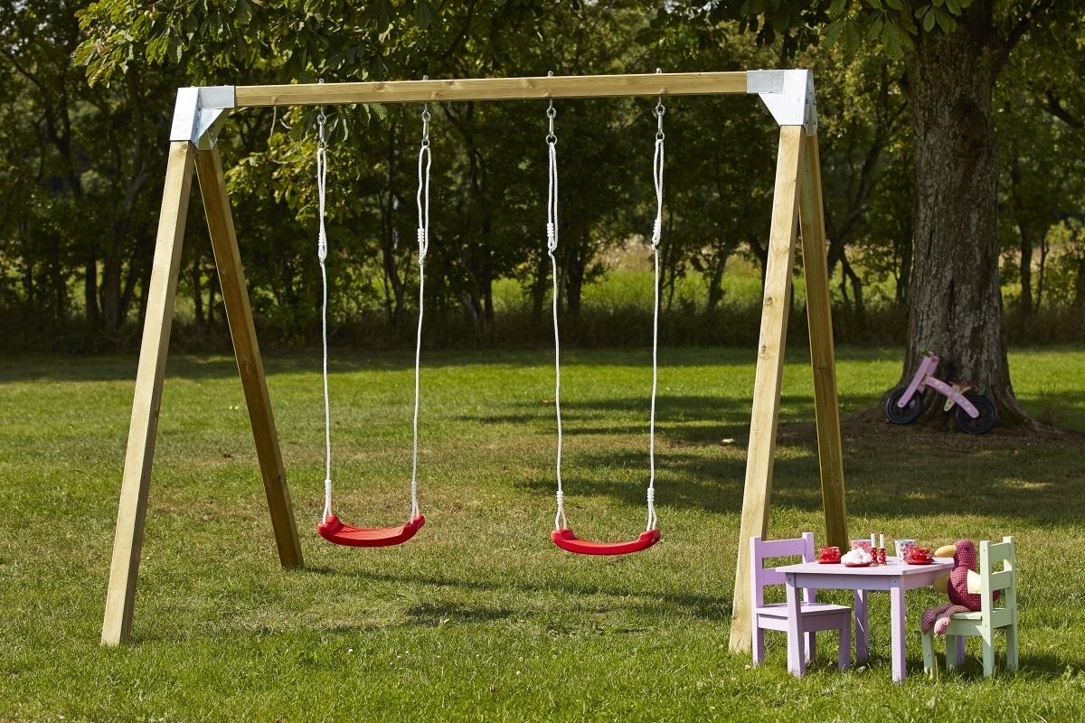 Si ge balan oire enfant rouge avec cordes max 70kg pour - Balancoire 1 personne ...